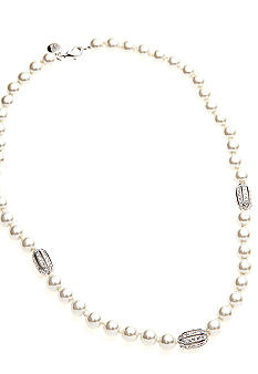 Lauren Ralph Lauren Pearl And Pave Bead Necklace