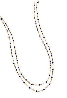 Lauren Ralph Lauren Two Row Blue Bead Necklace