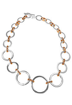 Lauren Ralph Lauren Graduated Two-Tone Links Necklace