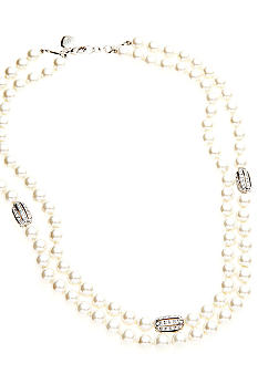 Lauren Ralph Lauren Two Row Pearl Necklace