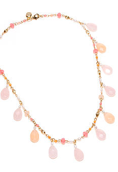 Lauren Ralph Lauren Rosary Linked Multi-Bead Necklace