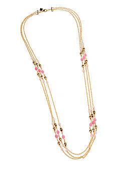 Lauren Ralph Lauren Three Row Metal Necklace