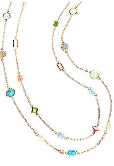 Lauren Ralph Lauren Two Row Multi-Color Illusion Necklace