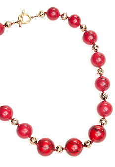 Lauren Ralph Lauren Coral Bead Necklace