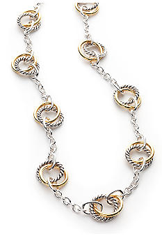 Lauren Ralph Lauren Two Tone Link Necklace