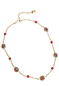 Lauren Ralph Lauren Metal And Coral Illusion Necklace