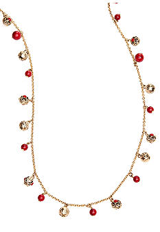 Lauren Ralph Lauren Metal And Coral Bead Necklace