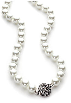 Lauren Ralph Lauren Glass White Pearl Necklace