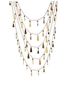 Lauren Ralph Lauren Metal with Multi Beads Drama Necklace