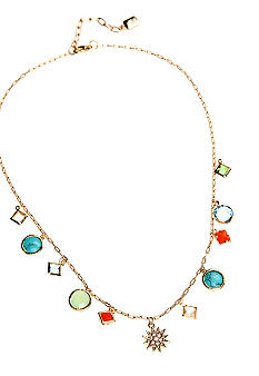 Lauren Ralph Lauren Multi-Color Bead Frontal Necklace