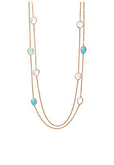 Lauren Ralph Lauren Two Row Multi-Stone Necklace