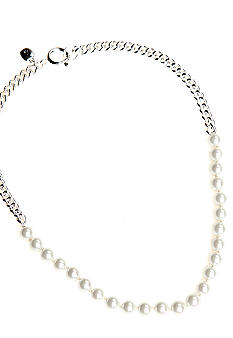 Lauren Ralph Lauren White Pearl And Chain Necklace