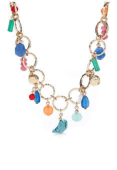 Lauren Ralph Lauren Multi-Beads Frontal Necklace