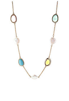 Lauren Ralph Lauren Multi-Colored Stone Illusion Necklace
