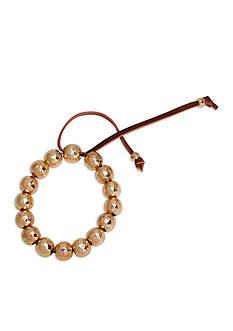 Lauren by Ralph Lauren Gold-Tone Bali Beaded Stretch Bracelet