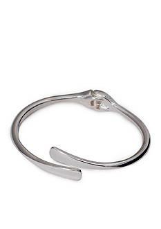 Lauren Ralph Lauren Silver-Tone Belle Isle Hinged Bangle Bracelet