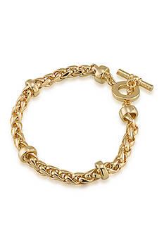 Lauren by Ralph Lauren Gold-Tone Back to Basics Braided Bracelet