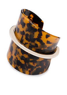 Lauren Ralph Lauren Gold-Tone Riding High Wrap Cuff Bracelet
