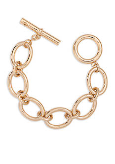 Lauren Ralph Lauren Gold-Tone Fall 16 Icons Oval Link Bracelet