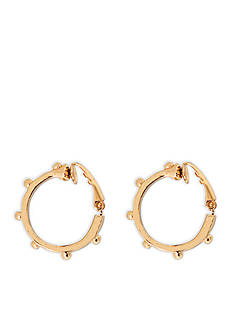 Lauren by Ralph Lauren Gold-Tone Bali Hoop Earrings