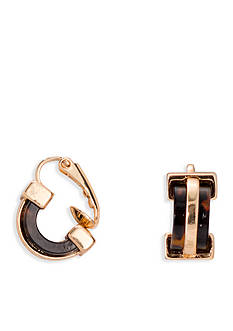 Lauren Ralph Lauren Gold-Tone Riding High Tortoise Earrings