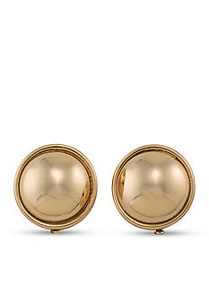 Lauren by Ralph Lauren Back to Basics Button Clip On Earrings