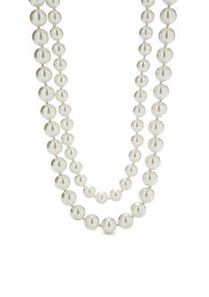 Lauren Ralph Lauren Two Row White Pearl Necklace