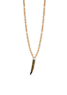 Lauren Ralph Lauren Canyon Chic Beaded Horn Long Necklace