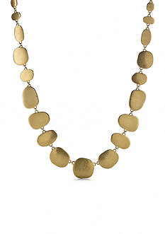 Lauren Ralph Lauren Gold-Tone Pink Sands Collar Necklace