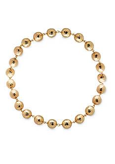 Lauren by Ralph Lauren Gold-Tone Bali Metal Beaded Necklace