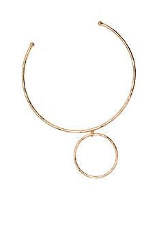 Lauren Ralph Lauren Gold-Tone Bali Metal Collar Necklace