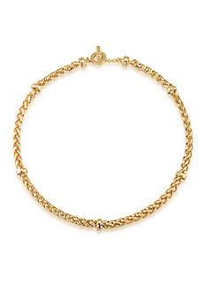Lauren by Ralph Lauren Gold-Tone Back to Basics Braided Collar Necklace