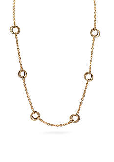 Lauren Ralph Lauren Gold-Tone Back To Basics Small Twist Link Illusion Necklace