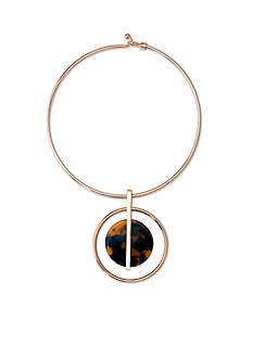 Lauren Ralph Lauren Gold-Tone Riding High Tortoise Orb Collar Necklace