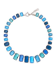 Lauren Ralph Lauren Mad About Hue Blue Stone Gratuated Collar Necklace