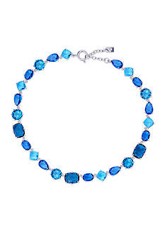Lauren Ralph Lauren Mad About Hue Blue Stone Collar Necklace