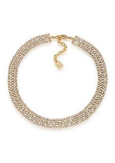 Lauren Ralph Lauren Lauren Fall 16 Clear and Goldtone Choker Necklace