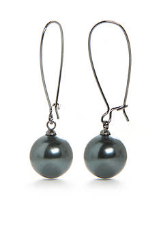 Lauren Ralph Lauren Gray Pearl Drop Earrings