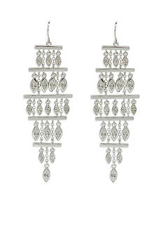 Lauren Ralph Lauren Silver-Tone Canyon Chic Chandelier Earrings