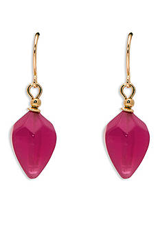 Lauren Ralph Lauren Gold-Tone Pink Sands Drop Earrings
