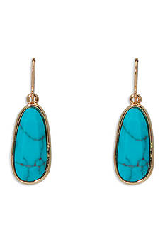 Lauren Ralph Lauren Gold-Tone Pink Sands Turquoise Drop Earrings