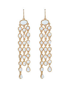 Lauren Ralph Lauren Gold-Tone Pink Sands Chandelier Earrings
