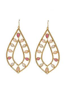 Lauren Ralph Lauren Pink Sands large gypsy hoop earring.