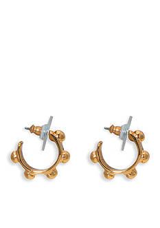 Lauren by Ralph Lauren Gold-Tone Bali Studded Hoop Earrings