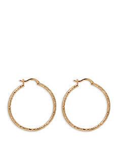 Lauren by Ralph Lauren Gold-Tone Bali Large Hoop Earrings