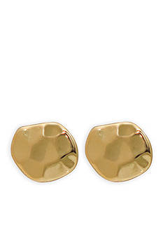 Lauren Ralph Lauren Gold-Tone Amalfi Coast Hammered Stud Earrings