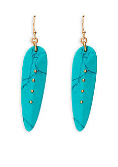 Lauren Ralph Lauren Gold-Tone Capri Faux Turquoise Linear Earrings