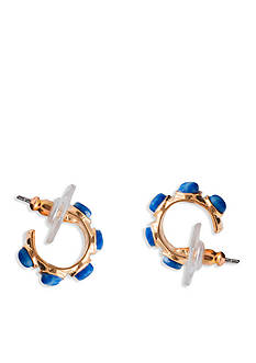 Lauren Ralph Lauren Gold-Tone Capri Small Hoop Earrings