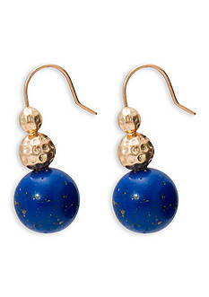 Lauren Ralph Lauren Gold-Tone Capri Faux Lapis Drop Earrings