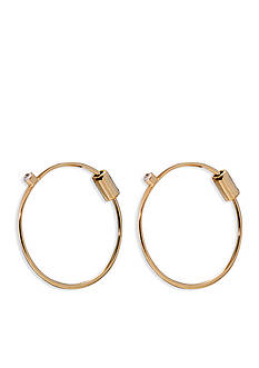 Lauren Ralph Lauren Gold-Tone Fringe Worthy Mini Hoop Earrings
